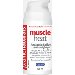 Prairie Naturals Muscle Heat with OptiMSM Muscle Relief Lotion for Muscles 100ml