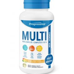 Progressive Chewable MultiVitamins For Adult Men, 60 Chewable Tablets