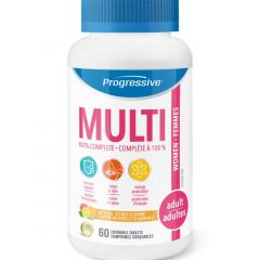 Progressive Chewable MultiVitamins For Adult Women, 60 Chewable Tablets