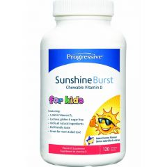 Progressive Vitamin D for Kids, Sunshine Burst Chewable Vitamin D for Kids & Families 1000IU