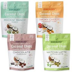 Rawcology Superfood Organic Coconut Chips (4 Flavours!), 90g  (NEW!)