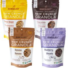 Rawcology Raw Crunch Organic Granola (4 Flavours-Grain Free), 200g (NEW!)