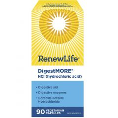 Renew Life DigestMORE HCl, 90 Vegetable Capsules