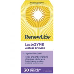 Renew Life LactoZYME Digestive Enzyme, 30 Vegetable Capsules