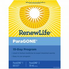 Renew Life ParaGONE, 15 Day Program Kit (Estimated Arrival Oct/20, Enter your email to be notified)