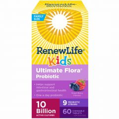 Renew Life Ultimate Flora Kids Probiotic, 10 Billion, Chewable Tablets (Refrigerated)