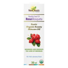 New Roots Rosa Mosqueta Seed Oil (Rosehip) Certified Organic Oil