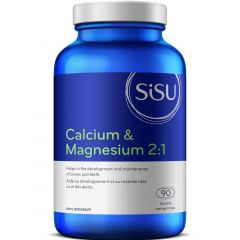 SISU Calcium & Magnesium 2:1 with D2, 90 Tablets