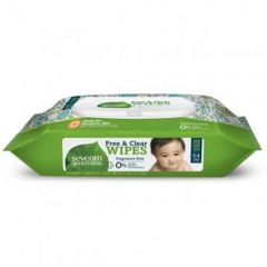 Seventh Generation Baby Wipes, 64 pack