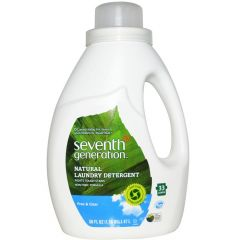 Seventh Generation Laundry Detergent 33 Loads (0% Synthetic Fragrances or Dyes), 1.47L