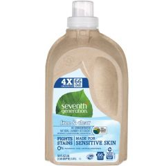 Seventh Generation Laundry Detergent Concentrated, 66 Loads (0% Fragrances or Dyes), 1.47L