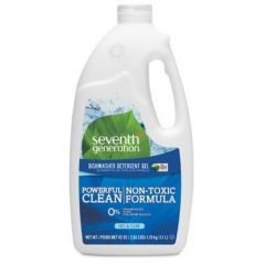 Seventh Generation Natural Auto Dishwasher Gel, Free and Clear (Fragrance Free), 2.62 lbs