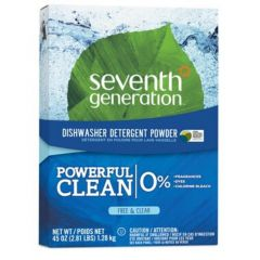 Seventh Generation Natural Auto Dishwasher Powder, Free and Clear (Fragrance Free), 2.81 lbs