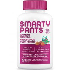 SmartyPants Women's Complete Gummy Multivitamin (+ Folate, CoQ10, B12 and Omega 3)