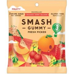 Smashmallow Gummies, Fruity - Fresh Picked (Only 3g of Sugar)