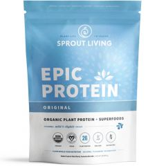 Sprout Living Epic Protein Organic Plant Protein (Certified Organic- Additive Free)
