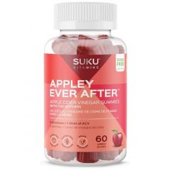 Suku Vitamins Appley Ever After (Apple Cider Vinegar Gummies with Mother), 60 Gummies