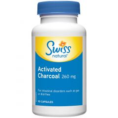 Swiss Natural Activated Charcoal 260mg, 90 Capsules