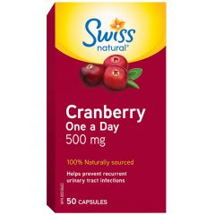 Swiss Natural Cranberry One a Day 500mg, 50 Capsules