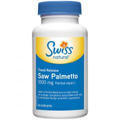 Swiss Natural Saw Palmetto Timed Release, 1000mg
