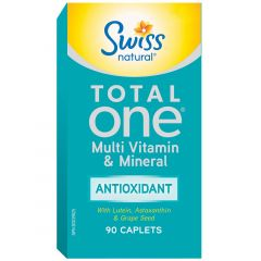 Swiss Natural Total One Multi Vitamin & Mineral Antioxidant, 90 Caplets
