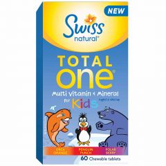 Swiss Natural Total One Multi-Vitamin & Mineral Kids, 60 Chewable Tablets