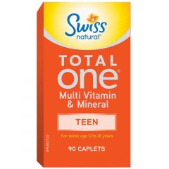 Swiss Natural Total One Multi Vitamin & Mineral Teen, 90 Caplets