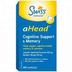 Swiss Natural aHead Cognitive Support & Memory, 60 Capsules