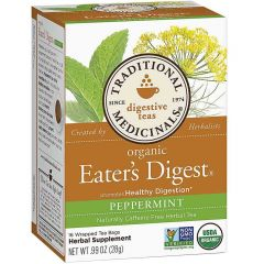 Traditional Medicinals Eater's Digest Peppermint, 20 Wrapped Tea Bags