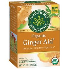 Traditional Medicinals Ginger Aid, 20 Wrapped Tea Bags