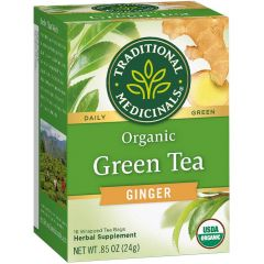 Traditional Medicinals Green Tea Ginger, 20 Wrapped Tea Bags