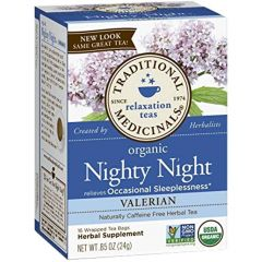 Traditional Medicinals Nighty Night Tea with Valerian, 20 Wrapped Tea Bags