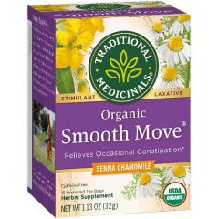 Traditional Medicinals Smooth Move Chamomile Tea, 20 Wrapped Tea Bags