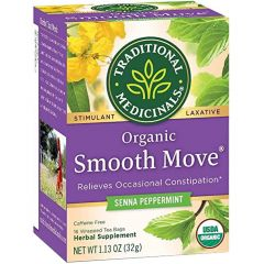 Traditional Medicinals Smooth Move Peppermint Tea, 20 Wrapped Tea Bags