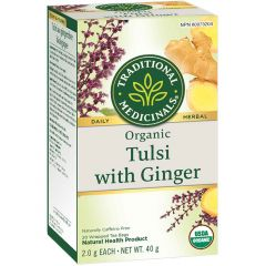 Traditional Medicinals Tulsi with Ginger, 20 Wrapped Tea Bags
