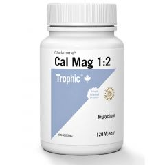 Trophic Cal-Mag 1:2 Chelazome, 120 Vcaps