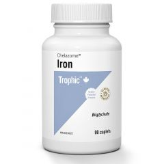 Trophic Iron Bisglycinate 25mg (Chelazome), 90 Caplets