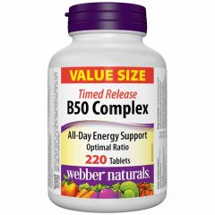 Webber Naturals B50 Complex Value Size, 220 Tabets (Timed Release)