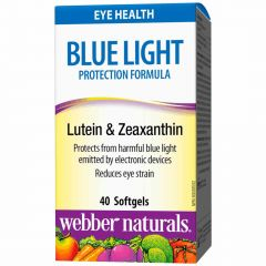 Webber Naturals Blue Light Protection Formula with Lutein and Zeaxanthin, 40 Softgels