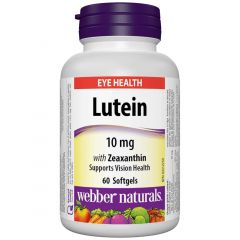 Webber Naturals Lutein with Zeaxanthin, 10mg, 60 Softgels