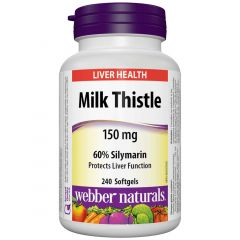 Webber Naturals Milk Thistle Extract, 150mg, 240 Capsules
