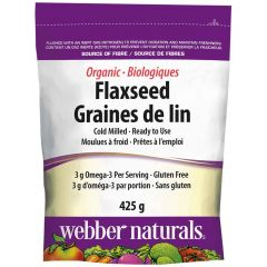 Webber Naturals Organic Flaxseed (Cold Milled), 425g