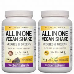 Webber Naturals Vegan Nutritional Shake All-In-One (Gluten-Free and Non-GMO), 16 Servings