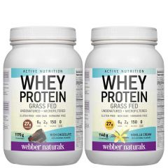 Webber Naturals Whey Concentrate (Grass-Fed) (1140g-1170g) (New!)