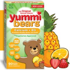 Hero Nutritionals Yummi Bears Calcium and Vitamin D3, 90 Gummies (Estimated Arrival Oct/2020 ~ Enter your email to be notified)