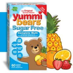 Hero Nutritionals Yummi Bears SUGAR-FREE Multi-Vitamin, 60 Gummies (Estimated Arrival Oct/2020 ~ Enter your email to be notified)