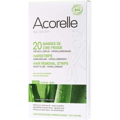 Acorelle Hair Removal Strips for Body, 20 Pack