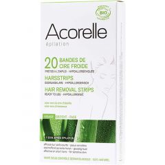 Acorelle Hair Removal Strips for Face, 20 Pack