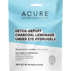 Acure Charcoal Under Eye Hydrogels (Factory Case), 12 Pack of Eye Gels