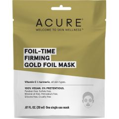 Acure Firming Gold Foil Mask (Factory Case), 12 Pack of Masks